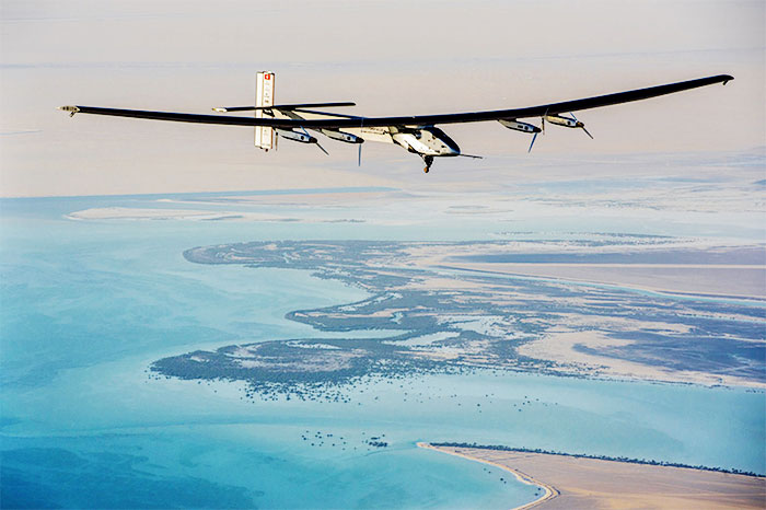 Solar-Powered Plane Leaves Spain for Egypt